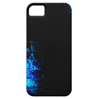 Wall Image in Blue and Black. Digital Art. iPhone SE/5/5s Case