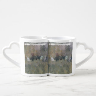 Wall in the forest coffee mug set