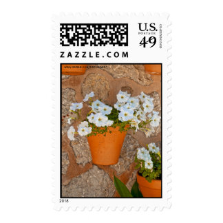 Wall mit Flowers Stamp