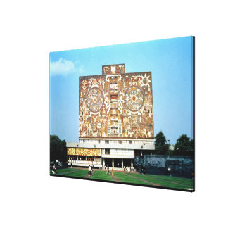 Wall mosaic on the facade of the Central Library Canvas Print