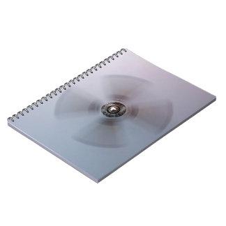 Wall mounted fan spiral notebook