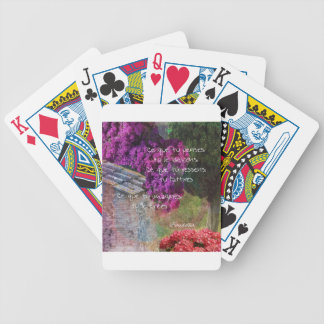 Wall,Nature and message Bicycle Playing Cards