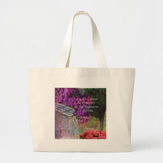 Wall,Nature and message Large Tote Bag
