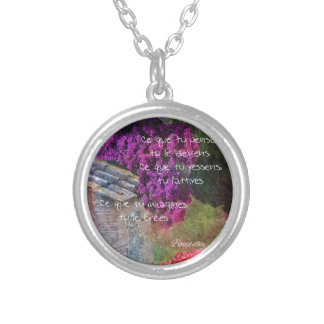 Wall,Nature and message Silver Plated Necklace