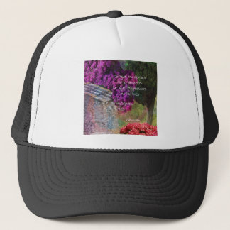 Wall,Nature and message Trucker Hat