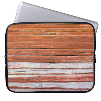 Wall of an log cabin laptop computer sleeve