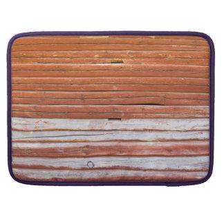 Wall of an log cabin MacBook pro sleeves