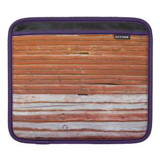 Wall of an log cabin sleeve for iPads
