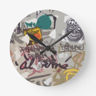 Wall of Babel Round Clock