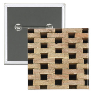 Wall of Bricks 2 Inch Square Button