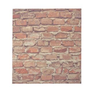 Wall of bricks pattern wallpaper design memo pads