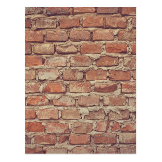 Wall of bricks pattern wallpaper design postcard