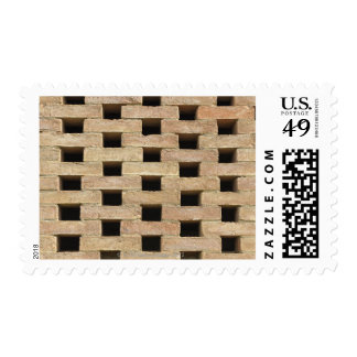 Wall of Bricks Postage Stamps