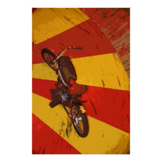 WALL OF DEATH BIKE POSTERS
