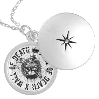 Wall of Death Round Locket Necklace