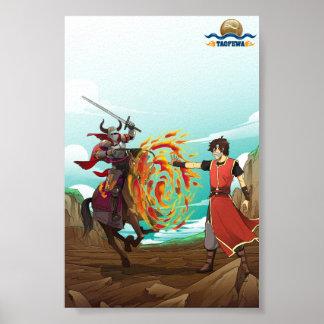 Wall of Fire - TAOFEWA Manga / Anime Poster