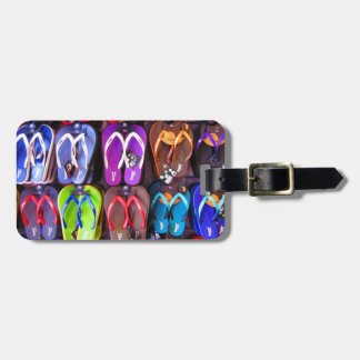 Wall of Flip Flops Tag For Luggage
