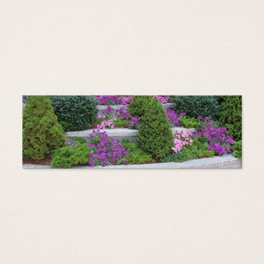Wall Of Flowers Bookmark Mini Business Card