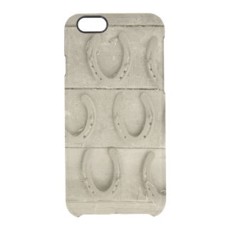 Wall of Horse Shoes Clear iPhone 6/6S Case