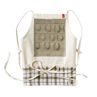 Wall of Horse Shoes Zazzle HEART Apron