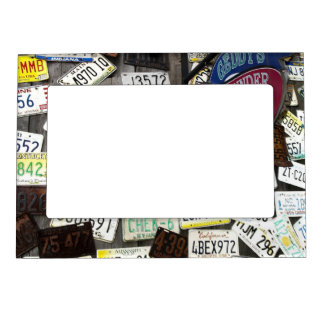 Wall of License Plates Magnetic Photo Frame