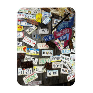 Wall of License Plates Rectangular Photo Magnet