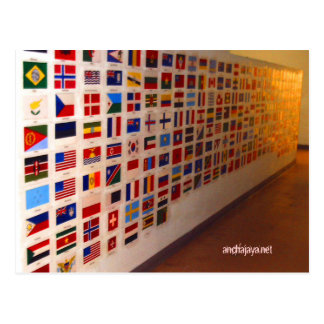 wall of nations postcard