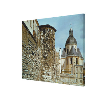 Wall of Philippe Auguste  rue des Jardins Canvas Print