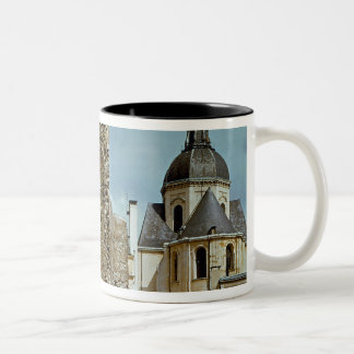 Wall of Philippe Auguste  rue des Jardins Two-Tone Coffee Mug