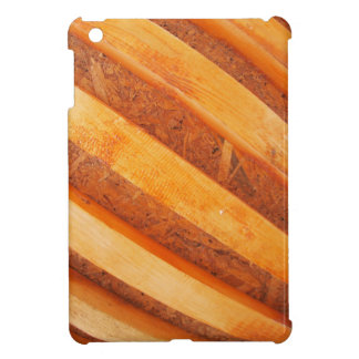 Wall of red wooden boards cover for the iPad mini