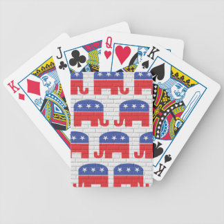 Wall of Republican Elephants Bicycle Playing Cards
