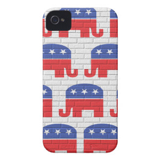Wall of Republican Elephants iPhone 4 Case-Mate Case