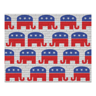 Wall of Republican Elephants Posters