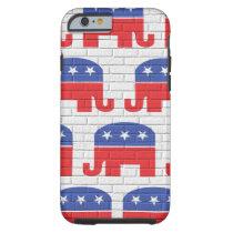 Wall of Republican Elephants Tough iPhone 6 Case