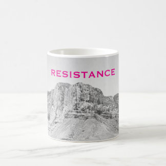 Wall of Resistance West Texas Pink Coffee Mug