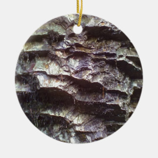 Wall of rock Double-Sided ceramic round christmas ornament