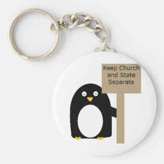 Wall of Separation Penguin Keychain