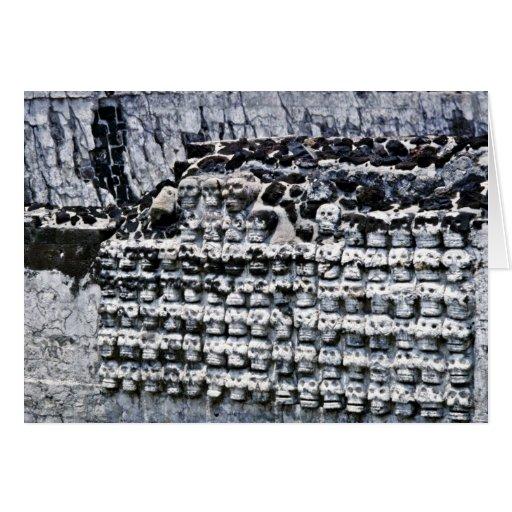Wall Of Skulls At Templo Mayor, Mexico City Card