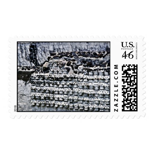 Wall Of Skulls At Templo Mayor, Mexico City Postage Stamps