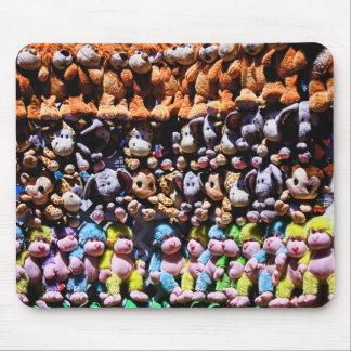 wall of stuffed animals, mousepad