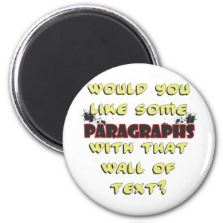 wall of text magnet