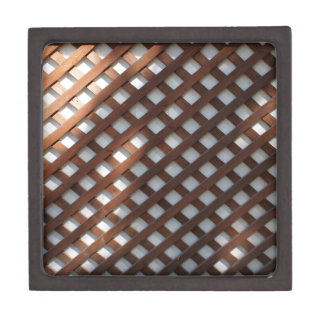 Wall of the building covered wooden planks crosswi gift box