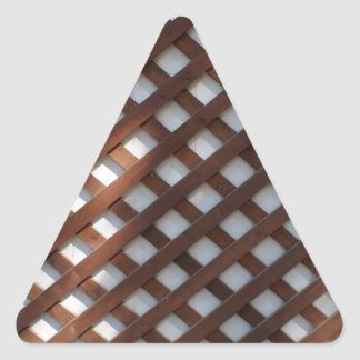Wall of the building covered wooden planks crosswi triangle sticker
