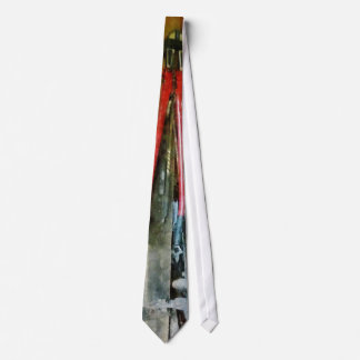 Wall of Tools and Shop Apron Neck Tie