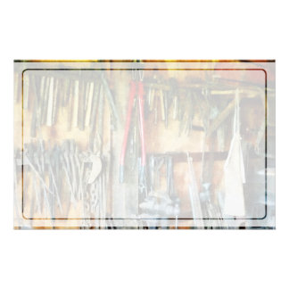 Wall of Tools and Shop Apron Personalized Stationery
