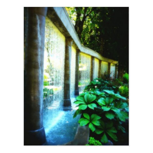 Wall of Water in Garden Paradise Post Card