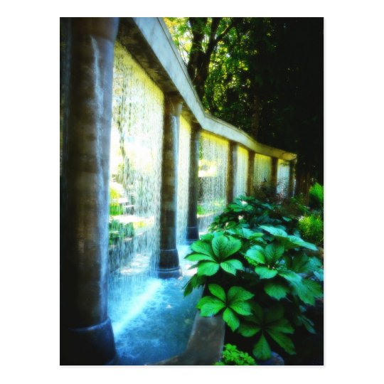 Wall of Water in Garden Paradise Postcard
