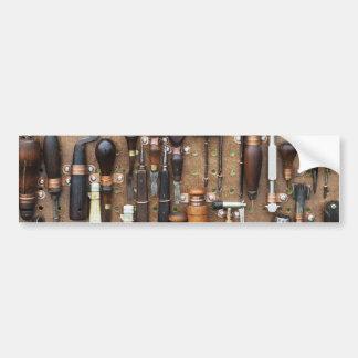 Wall of Work Tools - Industrial Print Bumper Sticker