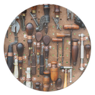 Wall of Work Tools - Industrial Print Dinner Plate