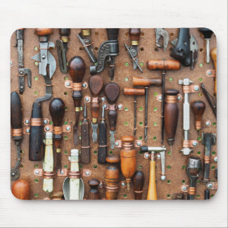 Wall of Work Tools - Industrial Print Mouse Pad